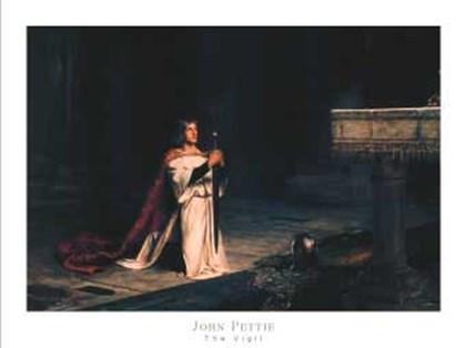 The Vigil by John Pettie art print