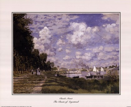 The Basin at Argenteuil by Claude Monet art print