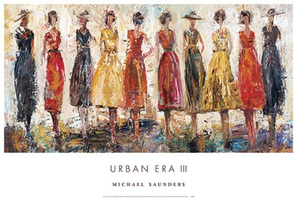 Urban Era III by Michael Saunders art print